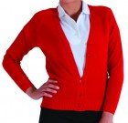 Banner Red Knitted Cardigan 50% Cotton, 50% Acrylic Reduced